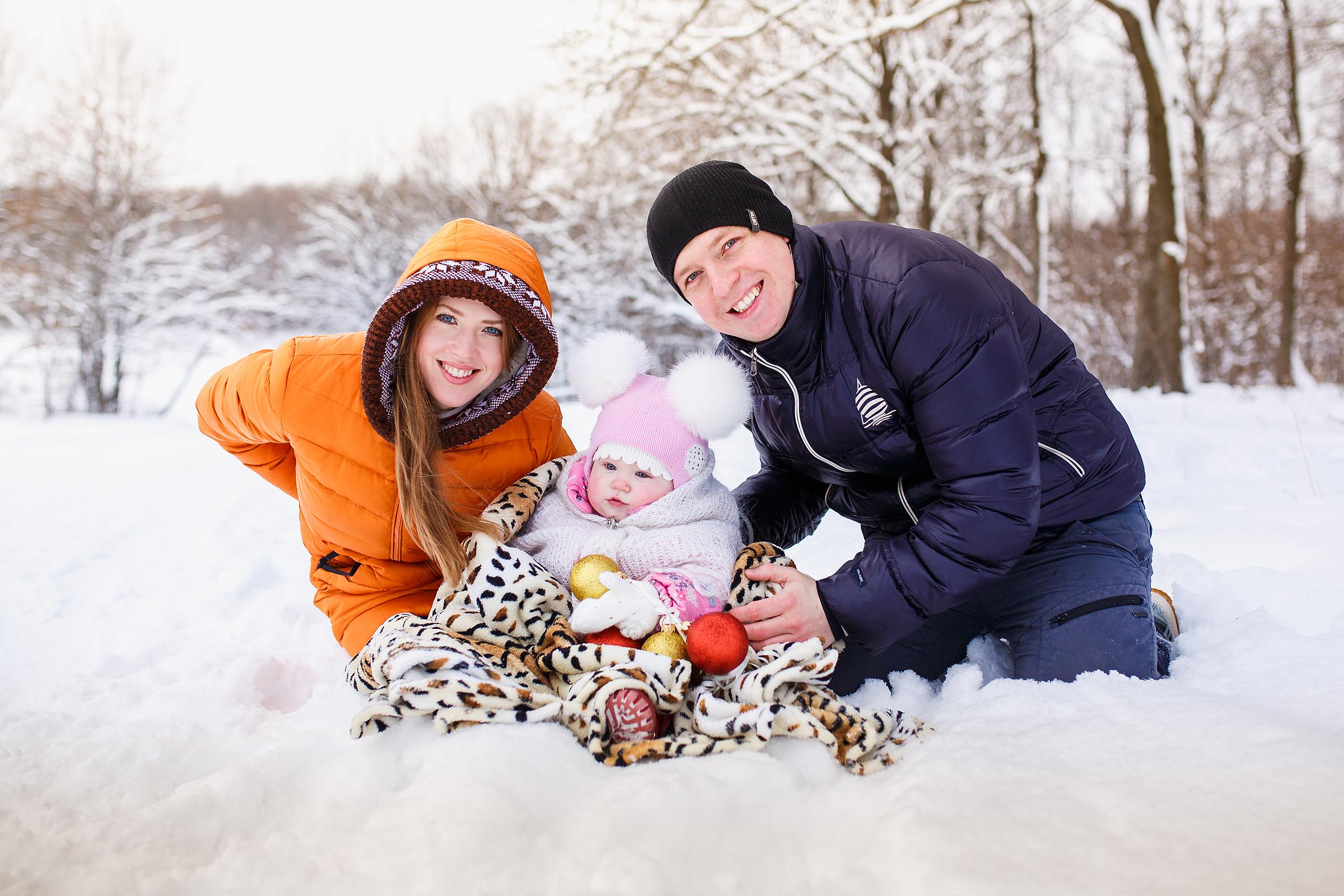 Идеи для зимней фотосессии с ребенком